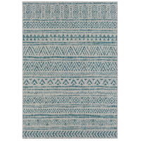 Surya EAG2307-679 Eagean 108 X 79 inch Aqua and Black Outdoor Area Rug photo thumbnail