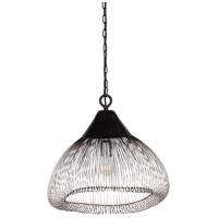 Surya EAM-001 Emes 1 Light 18 inch Black Pendant Ceiling Light
