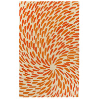 Surya EGF1005-576 Flying Colors 90 X 60 inch Neutral and Orange Area Rug, Wool photo thumbnail