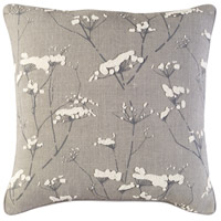 Enchanted 18 X 18 inch Taupe and Charcoal Pillow Cover