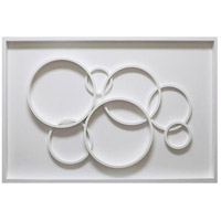 Surya ET98703001-3248 Eternal White Framed Art Rectangle