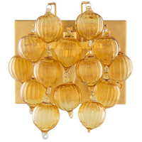 Surya EVI-001 Evie 1 Light 10 inch Saffron Wall Sconce Wall Light