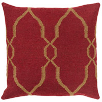 Surya FA019-2222 Fallon 22 X 22 inch Red and Brown Pillow Cover alternative photo thumbnail