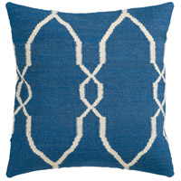 Surya FA021-2222 Fallon 22 X 22 inch Navy and Off-White Pillow Cover photo thumbnail