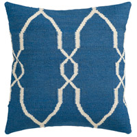Surya FA021-2222D Fallon 22 X 22 inch Dark Blue and Cream Throw Pillow photo thumbnail