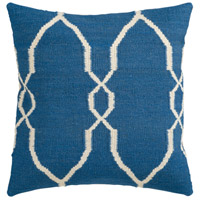Surya FA021-2222D Fallon 22 X 22 inch Dark Blue and Cream Throw Pillow alternative photo thumbnail