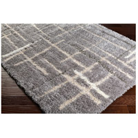 Surya FAF1000-810 Fanfare 120 X 96 inch Gray and Gray Area Rug, Polyester and Polypropylene alternative photo thumbnail