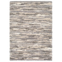 Surya FAF1002-23 Fanfare 36 X 24 inch Gray and Brown Area Rug, Polyester and Polypropylene photo thumbnail