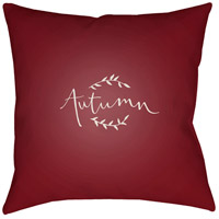 Surya FALL001-2020 Fall 20 X 20 inch Red and White Outdoor Throw Pillow photo thumbnail