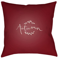 Surya FALL001-2020 Fall 20 X 20 inch Red and White Outdoor Throw Pillow alternative photo thumbnail