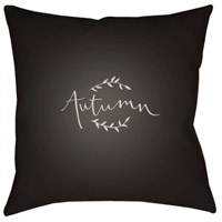 Surya FALL002-2020 Fall 20 X 20 inch Black and White Outdoor Throw Pillow alternative photo thumbnail