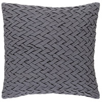 Surya FC001-2020D Facade 20 X 20 inch Medium Gray Throw Pillow photo thumbnail