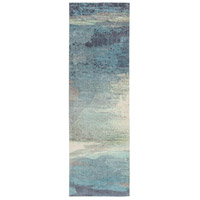 Surya FCT8000-268 Felicity 96 X 30 inch Blue and Blue Runner, Polyester photo thumbnail
