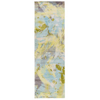 Surya FCT8001-268 Felicity 96 X 30 inch Blue and Green Runner, Polyester photo thumbnail