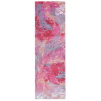 Surya FCT8002-268 Felicity 96 X 30 inch Pink and Purple Runner, Polyester photo thumbnail