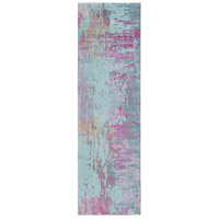 Surya FCT8003-268 Felicity 96 X 30 inch Purple and Blue Runner, Polyester photo thumbnail