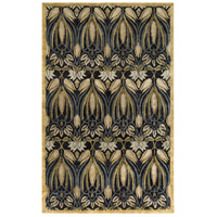 Surya FGD1004-810 Fitzgerald 120 X 96 inch Black and Green Area Rug, Wool photo thumbnail