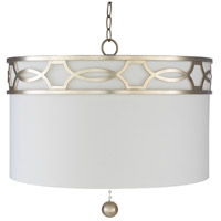 Surya FGE-003 Filligree 3 Light 23 inch White Pendant Ceiling Light