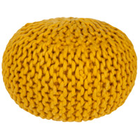 Surya FGPF-006 Fargo 14 inch Yellow Pouf photo thumbnail