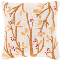 Surya FHI003-1818P Fall Harvest Beige and Orange Holiday Throw Pillow photo thumbnail