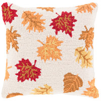 Surya FHI005-1818 Fall Harvest Beige and Orange Holiday Pillow Cover