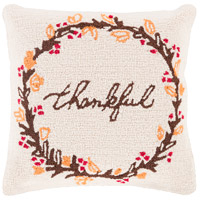 Surya FHI007-1818 Fall Harvest Beige and Brown Holiday Pillow Cover photo thumbnail