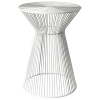 Surya FIFE100-131318 Fife 14 inch White Accent Table photo thumbnail