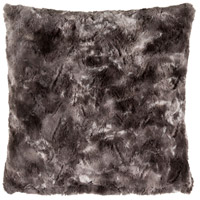 Felina 20 X 20 inch Black and Grey Pillow Cover