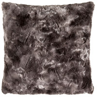 Surya FLA001-2020D Felina 20 X 20 inch Black and Medium Gray Throw Pillow photo thumbnail