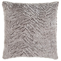Surya FLA002-2020P Felina 20 X 20 inch Medium Gray and White Throw Pillow photo thumbnail