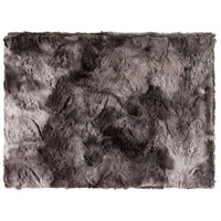 Surya FLA8000-5070 Felina 60 X 50 inch Black and Grey Throw