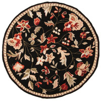 Surya FLO8907-4RD Flor 48 inch Black and Red Area Rug, Wool photo thumbnail