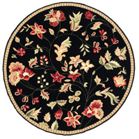 Surya FLO8907-3RD Flor 36 inch Black and Red Area Rug, Wool photo thumbnail