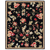 Surya FLO8907-810 Flor 120 X 96 inch Black and Red Area Rug, Wool photo thumbnail