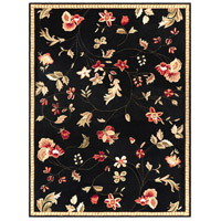 Surya FLO8907-912 Flor 144 X 108 inch Black and Red Area Rug, Wool photo thumbnail