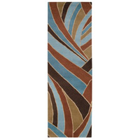 Surya FM7002-312 Forum 144 X 36 inch Brown and Blue Runner, Wool photo thumbnail