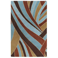 Surya FM7002-7696 Forum 114 X 90 inch Brown and Blue Area Rug, Wool photo thumbnail