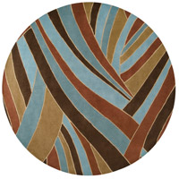 Surya FM7002-99RD Forum 117 inch Brown and Blue Area Rug, Wool photo thumbnail