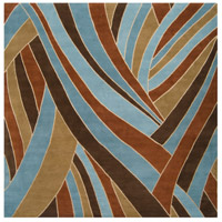 Surya FM7002-99SQ Forum 117 X 117 inch Brown and Blue Area Rug, Wool photo thumbnail