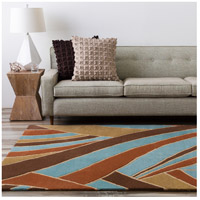 Surya FM7002-312 Forum 144 X 36 inch Brown and Blue Runner, Wool alternative photo thumbnail