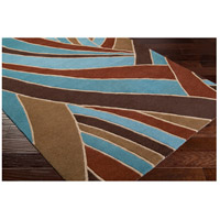 Surya FM7002-8RD Forum 96 inch Brown and Blue Area Rug, Wool alternative photo thumbnail