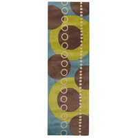 Surya FM7013-268 Forum 96 X 30 inch Green and Blue Runner, Wool photo thumbnail