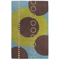Surya FM7013-58 Forum 96 X 60 inch Green and Blue Area Rug, Wool photo thumbnail
