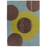Surya FM7013-811 Forum 132 X 96 inch Green and Blue Area Rug, Wool photo thumbnail