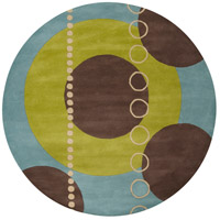 Surya FM7013-8RD Forum 96 inch Green and Blue Area Rug, Wool photo thumbnail