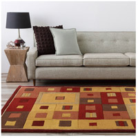 Surya FM7014-6RD Forum 72 inch Brown and Brown Area Rug, Wool alternative photo thumbnail