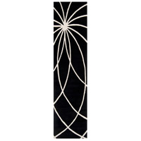 Surya FM7072-312 Forum 144 X 36 inch Black and Neutral Runner, Wool photo thumbnail