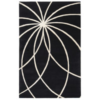Surya FM7072-58 Forum 96 X 60 inch Black and Neutral Area Rug, Wool photo thumbnail