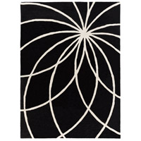 Surya FM7072-811 Forum 132 X 96 inch Black and Neutral Area Rug, Wool photo thumbnail