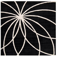 Surya FM7072-99SQ Forum 117 X 117 inch Black and Neutral Area Rug, Wool photo thumbnail